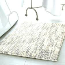 gray bath rug set and white chevron bathroom round mat sets