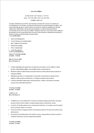 Teaching Assistant Resume Free Daycare Teacher Assistant Resume Templates At 83