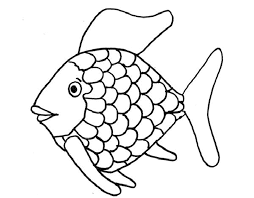 Small Picture Rainbow Fish Printable Coloring Page Coloring Home