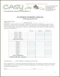 Monthly Profit And Loss Statement Template Monthly Income Template