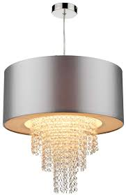 dar lopez silver ceiling pendant lamp shade with drops
