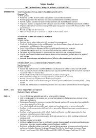 Financial Services Resume Financial Services Representative Resume Samples Velvet Jobs