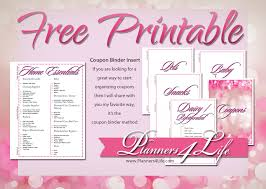 Printable Binder Inserts Everything Else Coupon Binder Inserts Pink