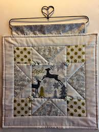 winter quilt wall hanging