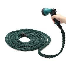 25 foot garden hose. stretchable lightweight 25 feet deluxe flexible garden water hose w/ spray nozzle foot