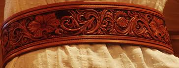 example of tooled western leather belts