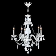 worldwide lighting w83101c25 wh provence 5 light chrome crystal chandelier