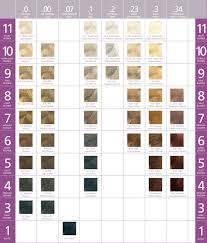 Small Color Chart Small Mastey Hair Color Chart Affinity Beauty Concepts
