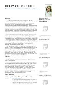 baker cv baker resume samples visualcv resume samples database