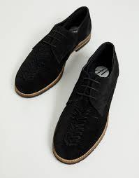 Черные замшевые туфли на шнуровке <b>H by Hudson</b> Chatra ...