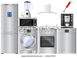 refrigerator and stove set. set of household appliances. refrigerator, washer, gas stove, extractor hood, dishwasher refrigerator and stove s