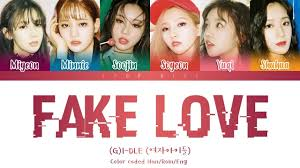 i-dle 여자아이들 - Han g Love' Youtube 'fake cover Lyrics color eng rom Coded