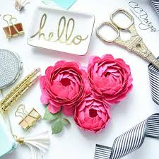 Peony Paper Flower Peony Paper Flower Template Step By Step Easy Paper Flower