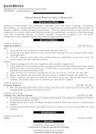 Resume Sample For Production Manager Best of Print Production Manager Fashion Production Manager Resume Print