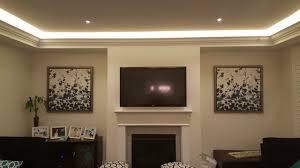 crown moulding lighting. Crown Moulding With LED Strip \u0026 Pot Lights Lighting
