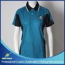 Blue Polo Shirt Design Hot Item Custom Sublimation Company And School Uniform Polo Shirt