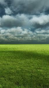 Cloudy Field Green Grass iPhone 6 ...