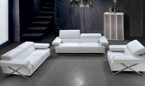 details about white italian leather sofa set special order vig divani casa linx