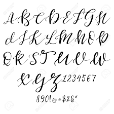 Letters In Design Hand Drawn Vector Alphabet Calligraphy Letters For Your Design