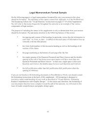 Memorandum Sample Kostenloses Legal Memorandum Format Sample