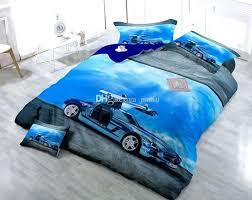 custom duvet covers custom drawings can be customized blue luxury car cotton satin duvet cover sets