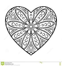 heart mandala coloring pages printable doodle heart mandala stock vector ilration flourish
