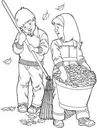 Disegno Di Ragazzo E Ragazza Lavorano In Giardino A Settembre Da