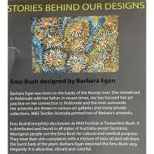 emu bush purple australian aboriginal art fabric by barbara egan by m s textiles australian
