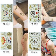 Glaryyears 1 лист временная татуировка наклейка металлический поддельный тату