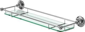 burlington bathrooms glass shelf with rail 55cm bathroomand co uk