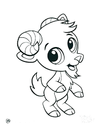 Cute Animals Coloring Pages Animal To Print Baby