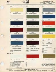 corvette information articles corvette paint colors 1960 1969 1969 corvette paint color chip sheets