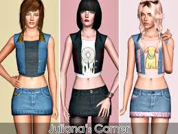 Juliana Sims: Amber Set | Sims, Clothes for women, Night skirt