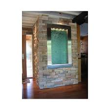 water feature interior | Indoor wall water fountain built into wall stone  around