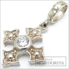 loree rodkin loree rodkin sv925 large fancy cross pendant top cubic zirconia silver 096640