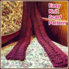 Easy Knit Scarf Pattern Free Awesome Design Ideas