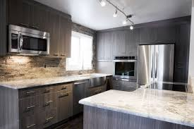 Faucets Grey Washed Wood Island Kitchen Cabinets Built In