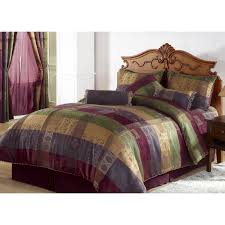 chezmoi collection 7 pieces multi color gitano jacquard patchwork comforter set bed in a
