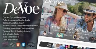 Video Website Template Magnificent Devoe Website Templates From ThemeForest
