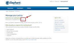 elephant auto insurance login step 1