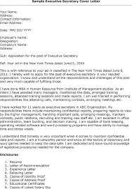 Elegant Cover Letter For Secretary Position At School Letter