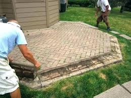 diy paver patio cost average cost of installing patio pavers