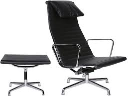 eames reproduction office chair. Eames Office Chair EA124 Aluminum Group High Back + EA125 Ottoman (Replica) Reproduction L