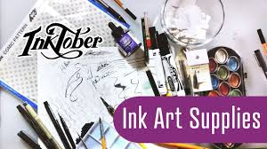 inktober prep paper and ink art supplies haul youtube