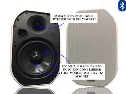 outdoor bluetooth patio speakers. 652btw silver ticket products 6.5\ outdoor bluetooth patio speakers