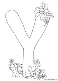 Small Picture Letter Y Coloring Pages For Kids Preschool and Kindergarten