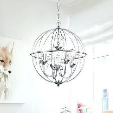 world market chandelier metal orb chrome finish crystal large beaded
