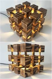 wooden cubes furniture. Wooden Rubik Cube Table Lamp - Lamps This Molecular, Rubik\u0027s Is Made Entirely Of Real Solid Wood And Nothing Else- Just A LOT Measuring Cubes Furniture