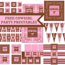 Cowgirl Birthday Decorations Free Cowgirl Birthday Party Printables From Printabelle Catch My