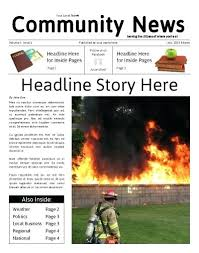 Free Front Page Newspaper Template Front Page 3 Column Newspaper Template Word Free Saleonline Info